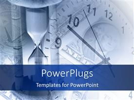 PowerPlugs: PowerPoint template with a clock with an hour glass and place for text