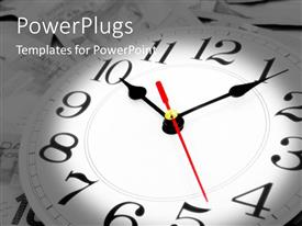 PowerPlugs: PowerPoint template with clock showing passing time past present future planning