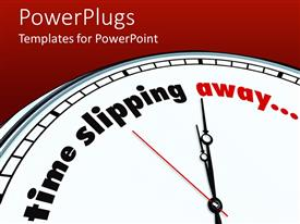PowerPoint template displaying a clock with a text that spell out the sentence