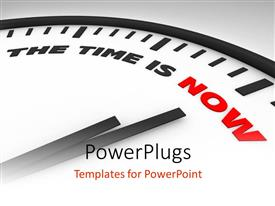 PowerPlugs: PowerPoint template with a clock with white background and place for text