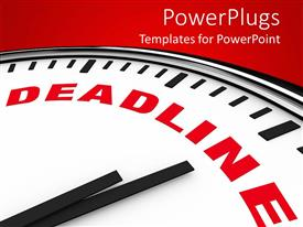 PowerPlugs: PowerPoint template with a clock with the word deadline on it