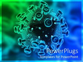 PowerPlugs: PowerPoint template with close-up 3D HIV virus