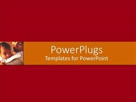 PowerPlugs: PowerPoint template with close-up of caring mother carrying her little baby on her shoulder