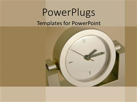 PowerPlugs: PowerPoint template with close-up of clock face on grey background