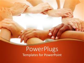 PowerPlugs: PowerPoint template with close-up portrait of hands joining each other