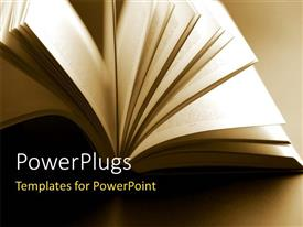 PowerPlugs: PowerPoint template with close-up shot of abstract open book pages