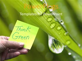 PowerPlugs: PowerPoint template with a sticky note with greenery in background