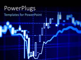 PowerPlugs: PowerPoint template with close-up of stock market graphs on LCD screen