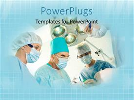PowerPlugs: PowerPoint template with close-up of surgeons performing surgery on patient with lights
