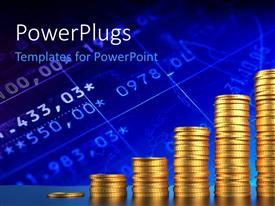 PowerPlugs: PowerPoint template with a number of old coins in piles