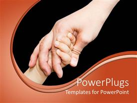 PowerPlugs: PowerPoint template with close up of child's hand holding parent's hand