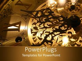 PowerPlugs: PowerPoint template with close up old classic grandfathers clock