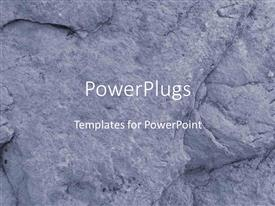 PowerPlugs: PowerPoint template with close up of rock pattern background, depiction of rock