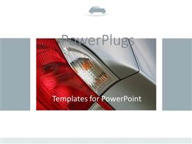 PowerPlugs: PowerPoint template with close up shot of car tail light with a white background