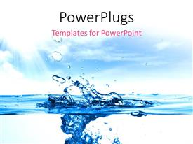 PowerPlugs: PowerPoint template with close up shot of a water drops