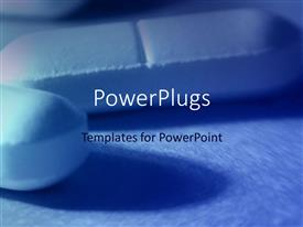 PowerPlugs: PowerPoint template with close up of two tablet pills, medicine, health, pharmaceuticals
