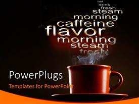 PowerPlugs: PowerPoint template with a close up view of a brown colored cup and saucer