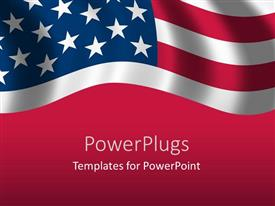 PowerPlugs: PowerPoint template with a close up view of the flag of USA