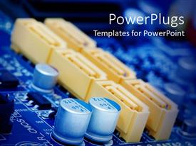 PowerPoint template displaying a close up view of the inside of an equipment