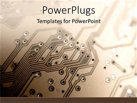 PowerPlugs: PowerPoint template with a close up view of the inside of an equipment or machinery