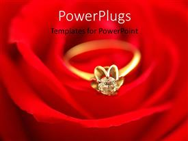 PowerPlugs: PowerPoint template with a close up view of a ring on a red background