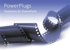 PowerPlugs: PowerPoint template with close up view of a roll of black film