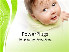 PowerPlugs: PowerPoint template with a close up view of a smiling cute baby