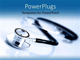 PowerPlugs: PowerPoint template with a close up view of a stethoscope on a plain surface
