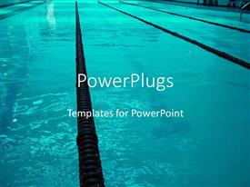 PowerPlugs: PowerPoint template with a close up view of a swimming pool with some black lanes