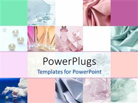 PowerPlugs: PowerPoint template with collage depicting fashion and style with white color