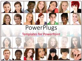 PowerPlugs: PowerPoint template with collage of faces with various expressions