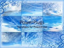 PowerPlugs: PowerPoint template with collage of sky views with clouds