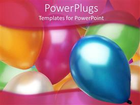 PowerPlugs: PowerPoint template with a collection of balloons in different colors with place for text on the top