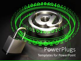 PowerPlugs: PowerPoint template with a collection of binary numbers being locked