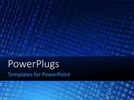 PowerPlugs: PowerPoint template with a collection of binary numbers with bluish background