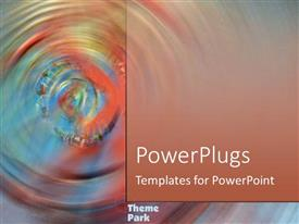 PowerPlugs: PowerPoint template with a collection of circles with multicolored background