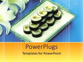 PowerPlugs: PowerPoint template with a collection of healthy food in a tray