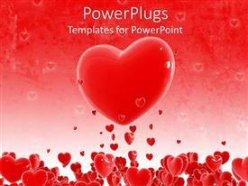PowerPlugs: PowerPoint template with a collection of hearts with one heart in the middle