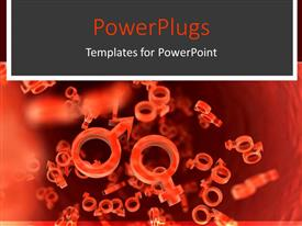 PowerPlugs: PowerPoint template with a collection of sex bacteria of various sizes along with a background