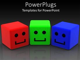 PowerPlugs: PowerPoint template with a collection of three dimensional smileys