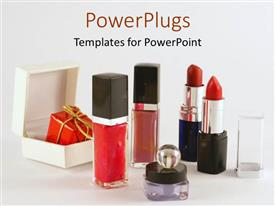 PowerPlugs: PowerPoint template with a collection of the variety of makeup together with place for text