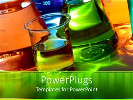 PowerPlugs: PowerPoint template with a collection of various chemicals with place for text