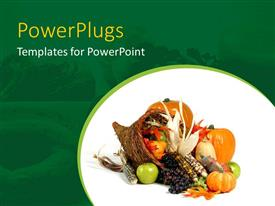 PowerPlugs: PowerPoint template with a collection of various vegetables and fruits in a basket