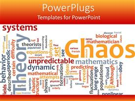 PowerPlugs: PowerPoint template with a collection of various words related to chaos in general being placed together