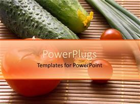 PowerPlugs: PowerPoint template with a collection of vegetables with place for text