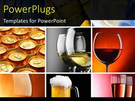PowerPlugs: PowerPoint template with a collection of wine glasses with various backgrounds