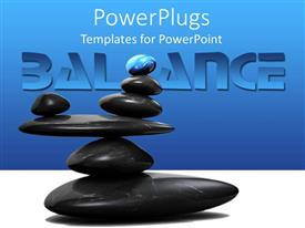 PowerPoint template displaying a collection of zen stones placed above each other