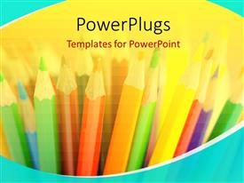 PowerPlugs: PowerPoint template with color pencils in creativity concept