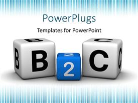 PowerPlugs: PowerPoint template with colored B2C cubes depicting business to customer relationship