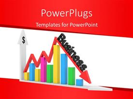 PowerPlugs: PowerPoint template with colored bar chart showing increase and decrease in profit